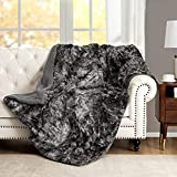 Faux Fur Fuzzy Throw Blanket Soft Warm Cozy Tie-dye Sherpa Throw Blanket Twin Size 60x80 inch Suitable for Fall Winter and Spring