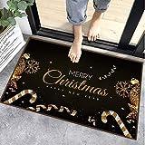 Sunshine smile alfombras de Piso,Anti Slip Baño Alfombras,Welcome Felpudo de Puerta,Tapete de Puerta Navidad con Temas,los Estera (A)