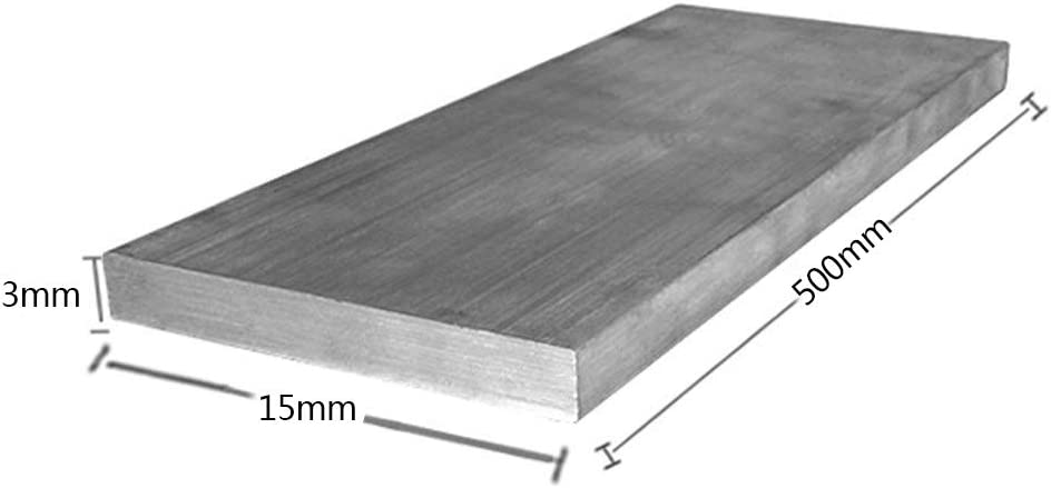 SHOUCAN Barra Piatta in Alluminio da 10 Pezzi Spessore 3 mm Larghezza 10-40 mm Piastra in Lega di Alluminio Buona Lavorabilit/à Lunghezza 500 mm,3/×10/×500mm