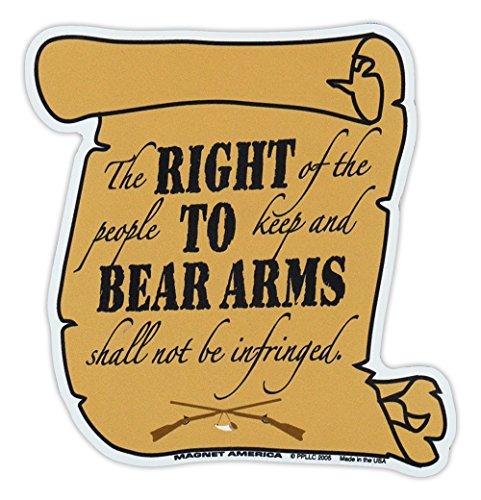 Magnetic Bumper Sticker - 2nd Amendment, Right to Bear Arms - Second Amendment Gun Rights - 4.5' x 4.5'