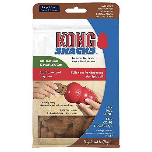 KONG – Snacks – Natürliche Hundesnacks – Leber – Groß (Ideal für KONG Classic aus Kautschuk)