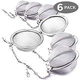 6er Pack Teezange Teesieb Filter Ball - Edelstahlgitterlöffel für Blätter Kräuterfilter Fruchtpresse