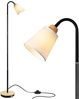 HAITRAL Adjustable Task Floor Lamp - Modern Standing Reading Lamp with 360 Adjustable Gooseneck, Reading Light Lamp for Bedroom, Office, Living Room White (Without Bulb)