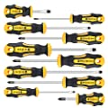 Amartisan 10-Piece Magnetic Screwdrivers Set, 5 Phillips and 5 Slotted Tips Professional Cushion Grip Screwdriver Set by AMARTISAN