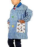KLOTTZ MICKEY - Babi guardería con bolsillos de tela MICKEY. Bata colegio de manga larga Niñas color: AZUL talla: 3