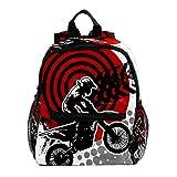 Zaino Scuola Bambini Motocross donna Backpack Impermeabile Zaino per Ragazzi e Ragazze Belle Daypack per Sport e Viaggi 25.4x10x30 CM