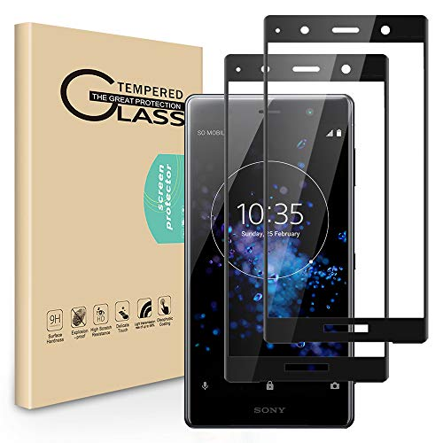 Seinal Panzerglas Schutzfolie für Sony Xperia XZ2 Premium [2 Stück] 3D Full Screen Displayschutzfolie,Panzerglasfolie,Tempered Glass,3D Touch Hartglas,Screen Protector Glass,Handy Folie (Schwarz)