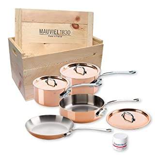 Mauviel M'heritage 150s 6100.02wc Crated 7-Piece Set with Cast Stainless Steel Handle (B004YKM6S6) | Amazon price tracker / tracking, Amazon price history charts, Amazon price watches, Amazon price drop alerts