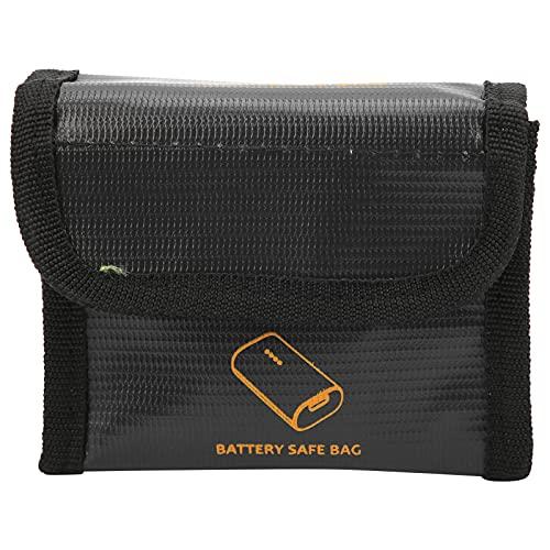 Qini Protector de batería, Bolsa Protectora Duradera para batería de Drones a Prueba de radiación, Color Negro para el hogar, para FPV Combo(Three Batteries)