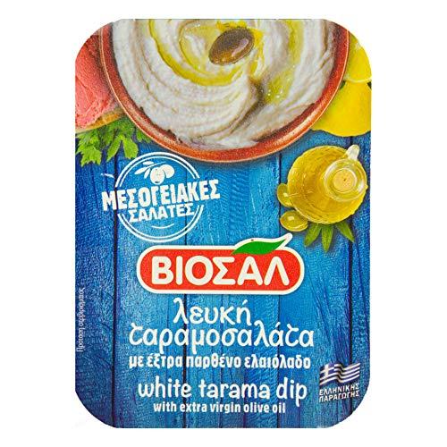 Food-United Tarama weiß 3x 200g original griechische Delikatesse gesalzene Fisch-Rogen Creme Taramas aus Kartoffeln Zitrone Fischeiern kalte Vorspeise als Dip für Brot und Gemüse Meze
