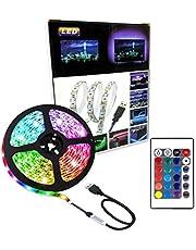 Lumive LED Strip Lights 2M RGB Strip light Waterproof USB Powered for TV Back light Bedroom Kitchen Desktop PC Gaming Fish Aquarium