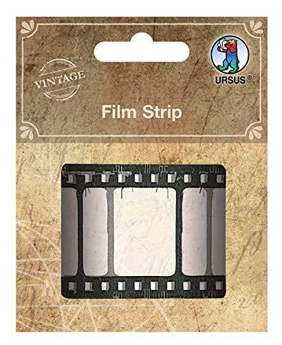 URSUS 40680000 Film Strip, Kunststoffstreifen in Optik einer Filmrolle, ca. 3,5 cm x 1 m, ideal als Verzierung für Scrapbooking und andere Bastelarbeiten, Mehrfarbig, One Size