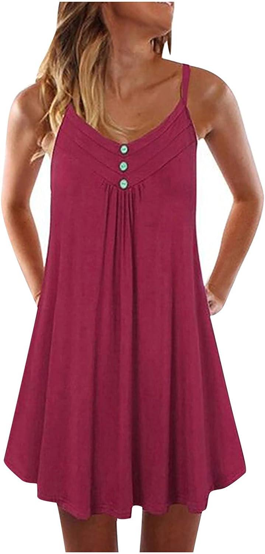 Casual Summer Dress for Women Mini V-Neck Beach Sling Kansas City Mall Sleeveless Colorado Springs Mall