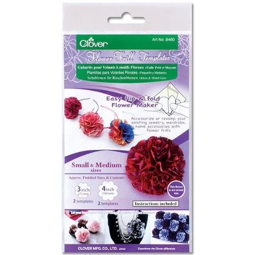 Clover Small /& Medium Flower Frill Template For Crafts Flower Making Tool