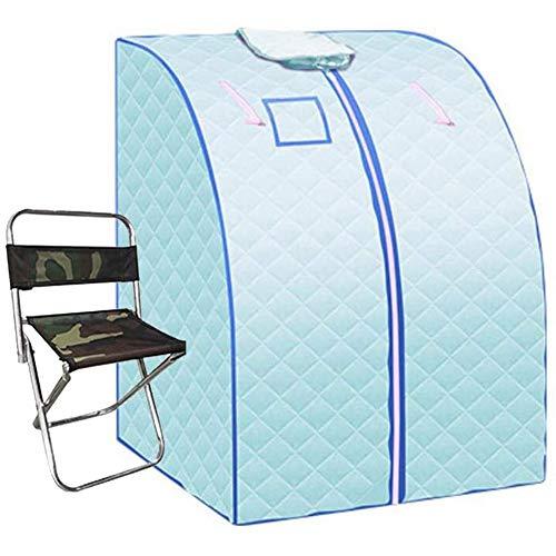 GFSD Ferninfrarotheizung Saunabadbox Zuhause Spa Wasserfreies Trockenes Dämpfen Wind und Feuchtigkeit Ausstoßen Schnelle Erwärmung Faltbar, 4 Farben (Color : Blue)