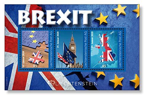 Brexit I Austritt der Briten aus der EU I Briefmarken-Block I postfrisch I Liechtenstein I Europäische Union I Exklusiv bei Hermann E. Sieger