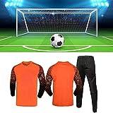 JSPT Maillot de Gardien de But de Football Tenues de Protection Anti-Collision SuitPardes de Gardien de But de Football Personnalisable,Orange,XL(170-175cm) Height
