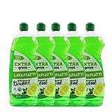 Detergente Vegetale Liquido Per Lavare I Piatti Lavapiatti Al Profumo Di Limone 1L Detergente Piatti a Mano...