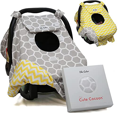 Sho Cute - [Reversible] Carseat Canopy   All Season Baby Car Seat Cover Boy or Girl   100% Cotton  ...