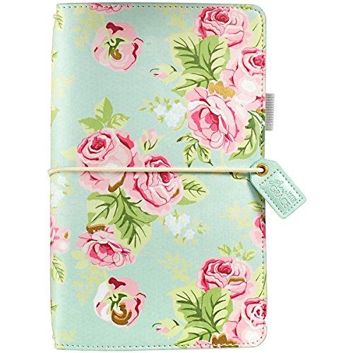Color Crush Traveler's Notebook Planner 5.75'X8.75'-Mint Floral