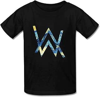 Aliensee Little Boys Girls Kids Alan Van Gogh Walker WV Cotton T-Shirt for 6-10yr Old
