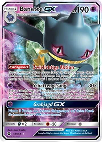 Banette GX 66/168 Pokémon Sonne & Mond Sturm am Firmament Sammelkarte - Deutsch - Cardicuno