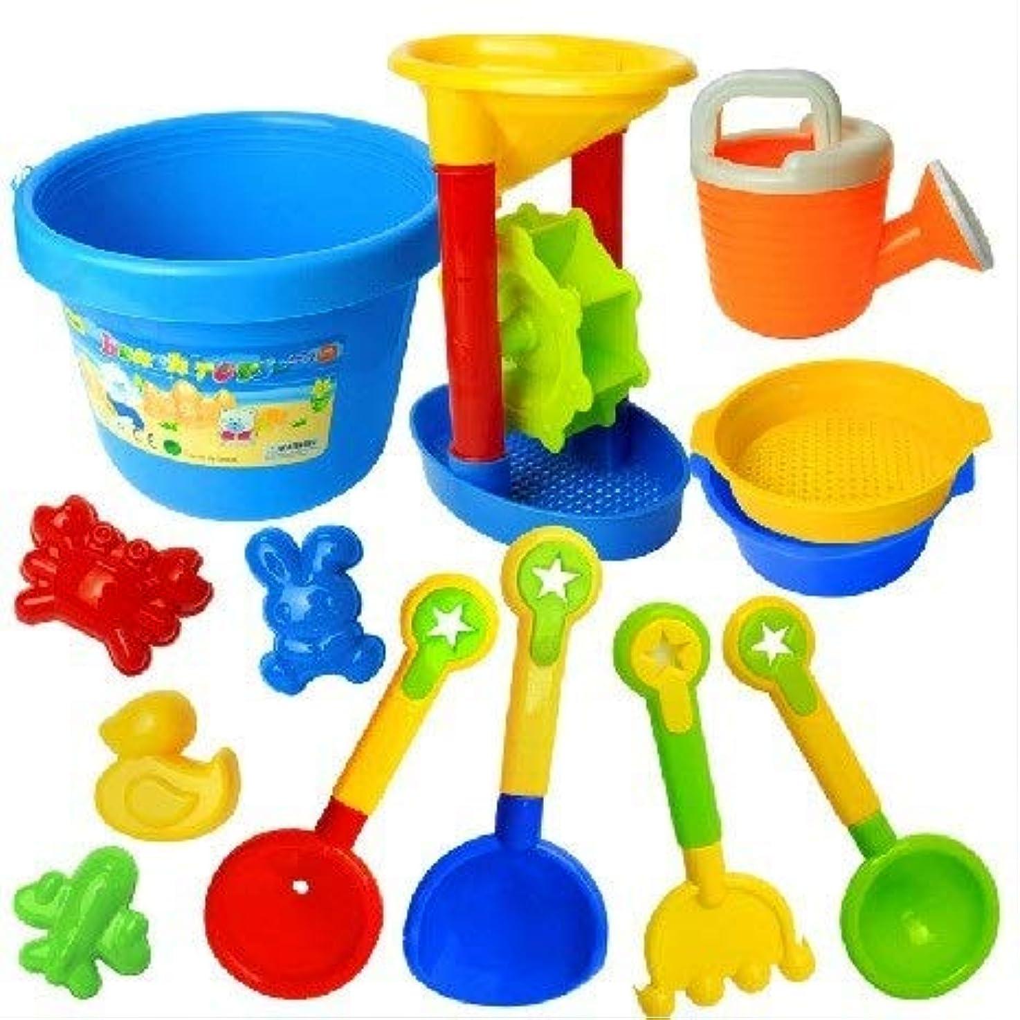 円形分析服を着るCetengkeji 子供の夏の砂のおもちゃ、ビーチのおもちゃセット、知育玩具、親 - 子供のおもちゃ、砂描画道具、公園と海に美しい思い出を残す