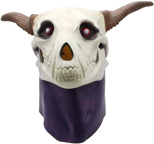 cómodamente VJUKUBWINE Antiguo Mago ' Novia Novia Novia Pico Capucha Máscara Halloween Decoración Disfraces Máscara Cosplay Full Head Máscara Látex Fuego Lobo  100% autentico