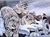 Diamante bordado leopardo 5D DIY Animal imagen Rhinestone artista decoración del hogar diamante pintura A6 30x40cm