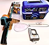 SouthBend 92 Piece Kids Fishing Pole and Wormgear Tackle Box - with Net, Fish Scale, Rod and Reel...