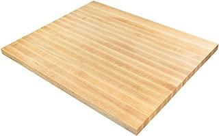 Big Bison Maple Butcher Block 36 x 30 x 1.5 Inch Wood Countertop