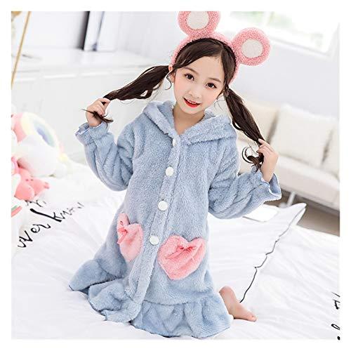 Pyjamas Mädchen Winter Robes Nachtwäsche Kinderkleidung Nachtgewand Thick Flanell...