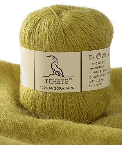 TEHETE 100% Angora Wool Yarn for Cr…