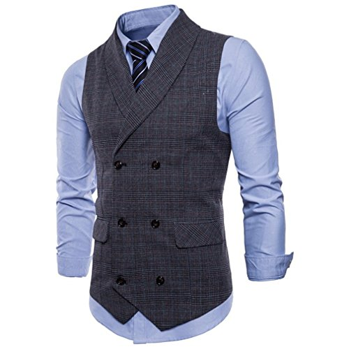 Juleya Beiläufiges Sleeveless Formal Business Jacke Kleid Westen Für Männer Slim Fit Herren Anzug Weste Männlichen Weste