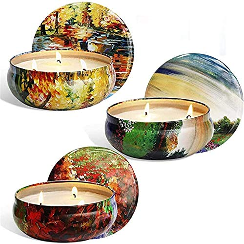 ZHANG Large Can of Three Citronella Oil Scented Candles, Environmentally Friendly Smokeless Three-Wick Candle Set