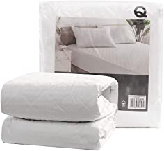 Dreamaker Bedding Fully Fitted 100% Cotton Filled and Cotton Quilted Waterproof Mattress Protector - No Polyester - (2, Ki...