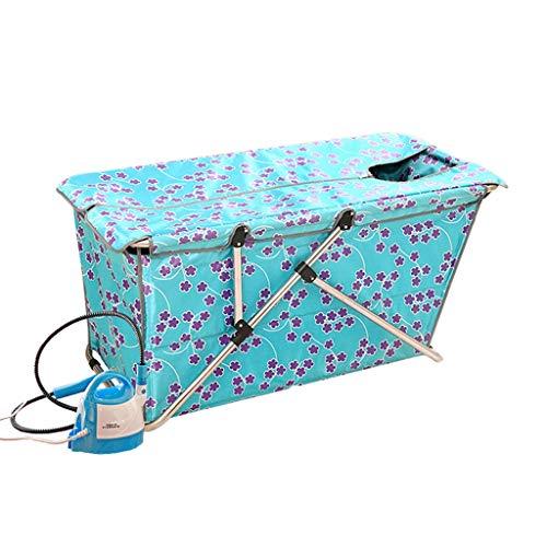 ZHOU LI 2 In 1 Folding Bathtub+Home Steam Saunas, Folding Soaking Bath Tub For...