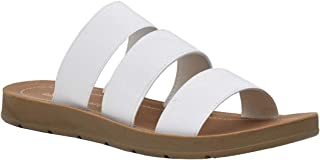 CUSHIONAIRE Women's Indy 3 Band Stretch Sandal