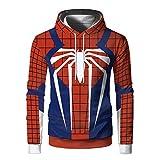 Sudadera Informal con Capucha Spider-Man 3D Impresión con Capucha para niño Multicolor Adolescente Miles Morales Disfraz con Abrigo con Cremallera Hombre Spiderman Cosplay-S