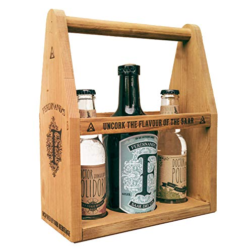 "FERDINAND'S Werkzeugkiste ""S' 1x Saar Dry Gin 50 cl + je 1 Fl Dr Polidori Dry + Cucumber Tonic Water Spirituose, (1 x 500 ml / 2 x 200 ml)"