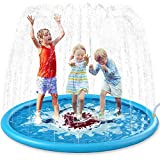 Jasonwell Sprinkle & Splash Play Mat 68' Sprinkler for Kids Outdoor Water Toys Inflatable Splash Pad Baby Toddler Pool Boys Girls Children Outdoor Backyard Sprinkler Toy Splash Pad