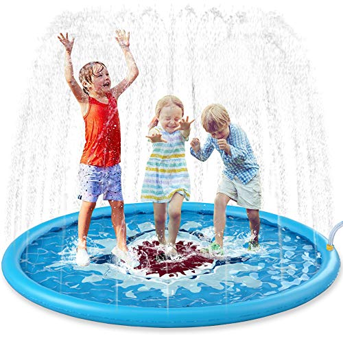 Jasonwell Sprinkle & Splash Play Mat 68' Sprinkler for Kids...