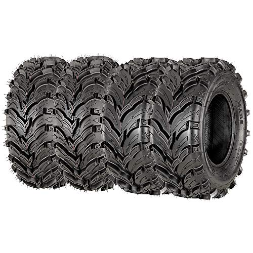 Set of 4 VANACC New ATV Tires 24x8-12 24x8x12 Front and 24x10-11 24x10x11 Rear 6PR Deep Tread Mud