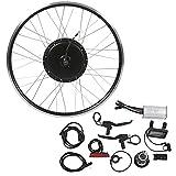 Alomejor Kit De Conversión De Bicicleta Eléctrica Impermeable 700C Rueda Delantera 48V 1000W Kit De Conversión De Motor De Cubo con Medidor LCD3