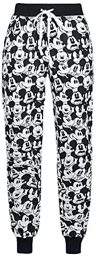 Micky Maus Face Frauen Pyjama-Hose schwarz/weiß L