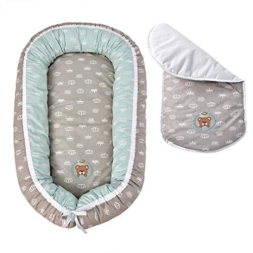 Sei Design Babynestchen Bezug aus 100% Baumwolle mit Reißverschluss | Babynest