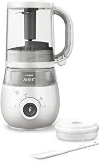 Philips Avent 4-in-1 Healthy Baby Food Maker, For Every Weaning Stage - Steam, Blend, Defrost and Reheat - SCF883/02