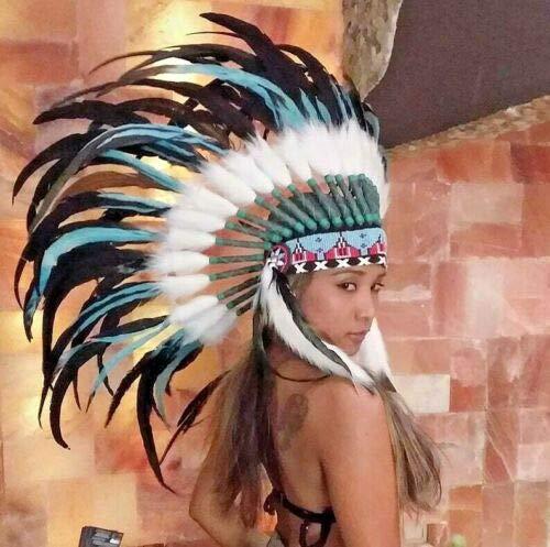 Little-Big-Horn Federhaube War Bonnet Indianer Kopfschmuck, Coiffe Indienne Karneval, Halloween, Fotoshooting, Dekoration Original Bulzeye