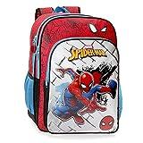Marvel Spiderman Red Mochila Escolar Adaptable, Rojo