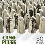 Moldex Soft Foam Ear Plugs 50 Pairs Camo Plugs® Earplugs -33dB Highest NRR Made in USA